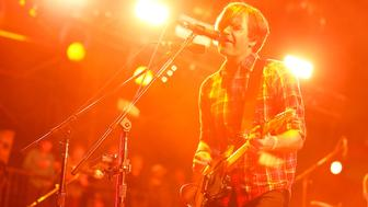 IRVINE, CA - MAY 16:  Musician Ben Gibbard of Death Cab for Cutie performs onstage at the KROQ Weenie Roast Y Fiesta at Irvine Meadows Amphitheatre on May 16, 2015 in Irvine, California.  (Photo by Joe Scarnici/WireImage)