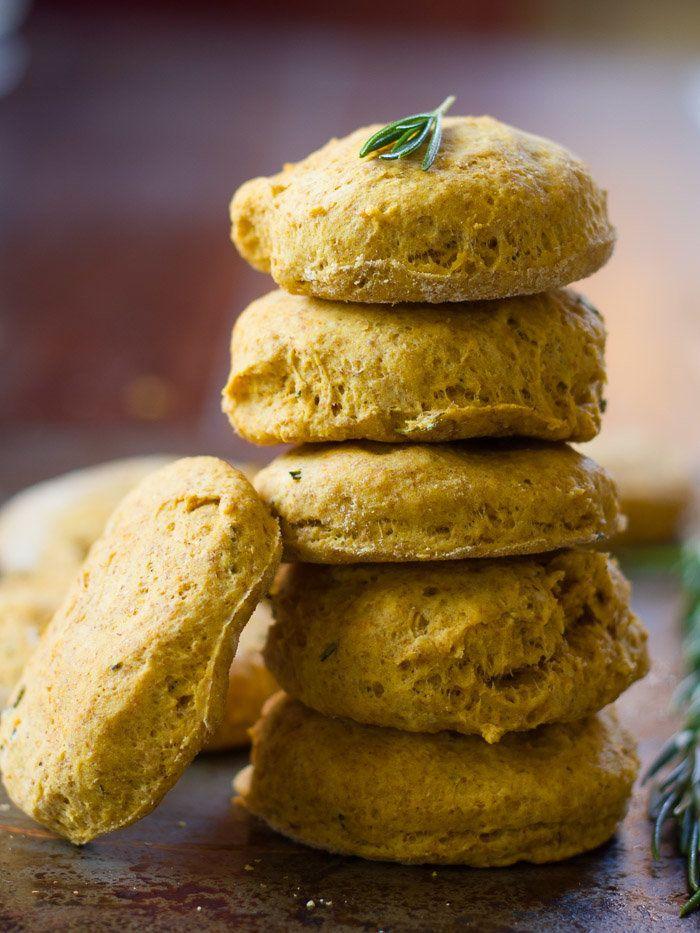 "<strong>Get the <a href=""http://www.connoisseurusveg.com/rosemary-pumpkin-biscuits/"" target=""_blank"">Rosemary Pumpkin Biscuit"