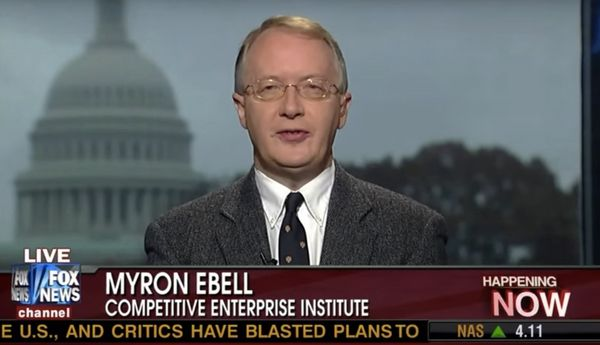 "A self-described ""policy wonk,"" Ebell has no scientific experience. He graduated from Colorado College with a Bac"