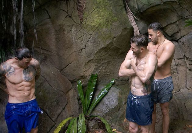 The boys were the first to try out the jungle