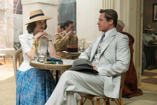 Marion Cotillard and Brad Pitt in a scene from