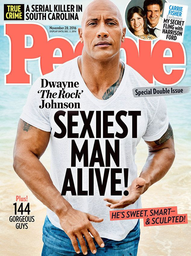 Dwayne Johnson, your Sexiest Man Alive for 2016.