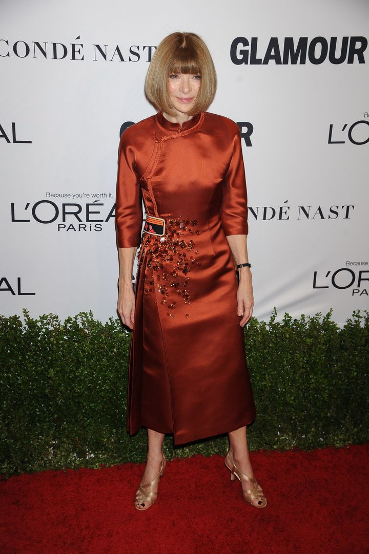 Anna Wintour in Prada -- and not in sunnies.