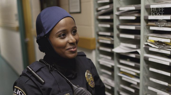Kadra Mohamed is a St. Paul police officer who wears the hijab.