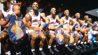 283696 31: Michael Jordan dolls are on display at the Warner Bros. Studio store October 23, 1996 in New York City. The store, originally a three floor specialty store, has been redesigned into a nine floor department store with a cafe, interactive attractions, and a screening facility for computer animated 3-D Looney Tunes cartoons under the sponsorship of Jordan. (Photo by Evan Agostini/Liaison)