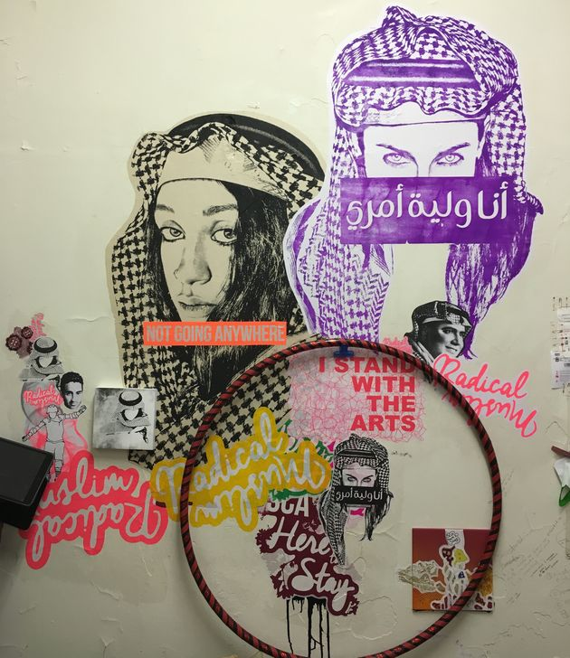 A mural by Ms Saffaa at the Sydney College of the