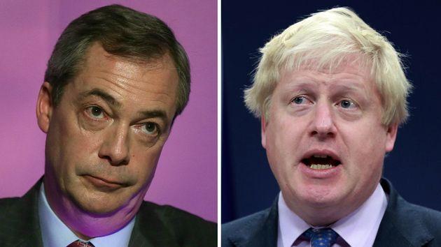 Nigel Farage and Boris Johnson were among those