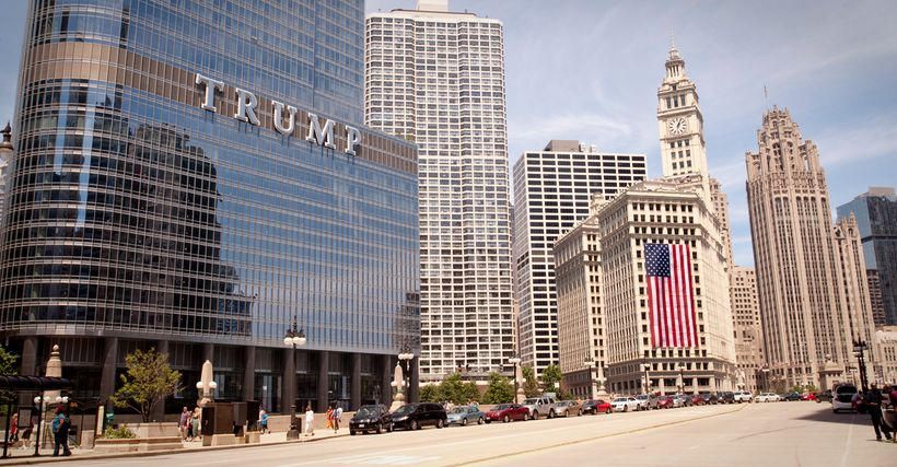 The Trump International Hotel & Tower Chicago, as seen on July 4, 2014.