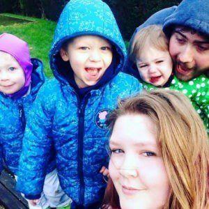 Lettie Head with her three children, Zac, four, Henry, three, and Elsie 16 months.