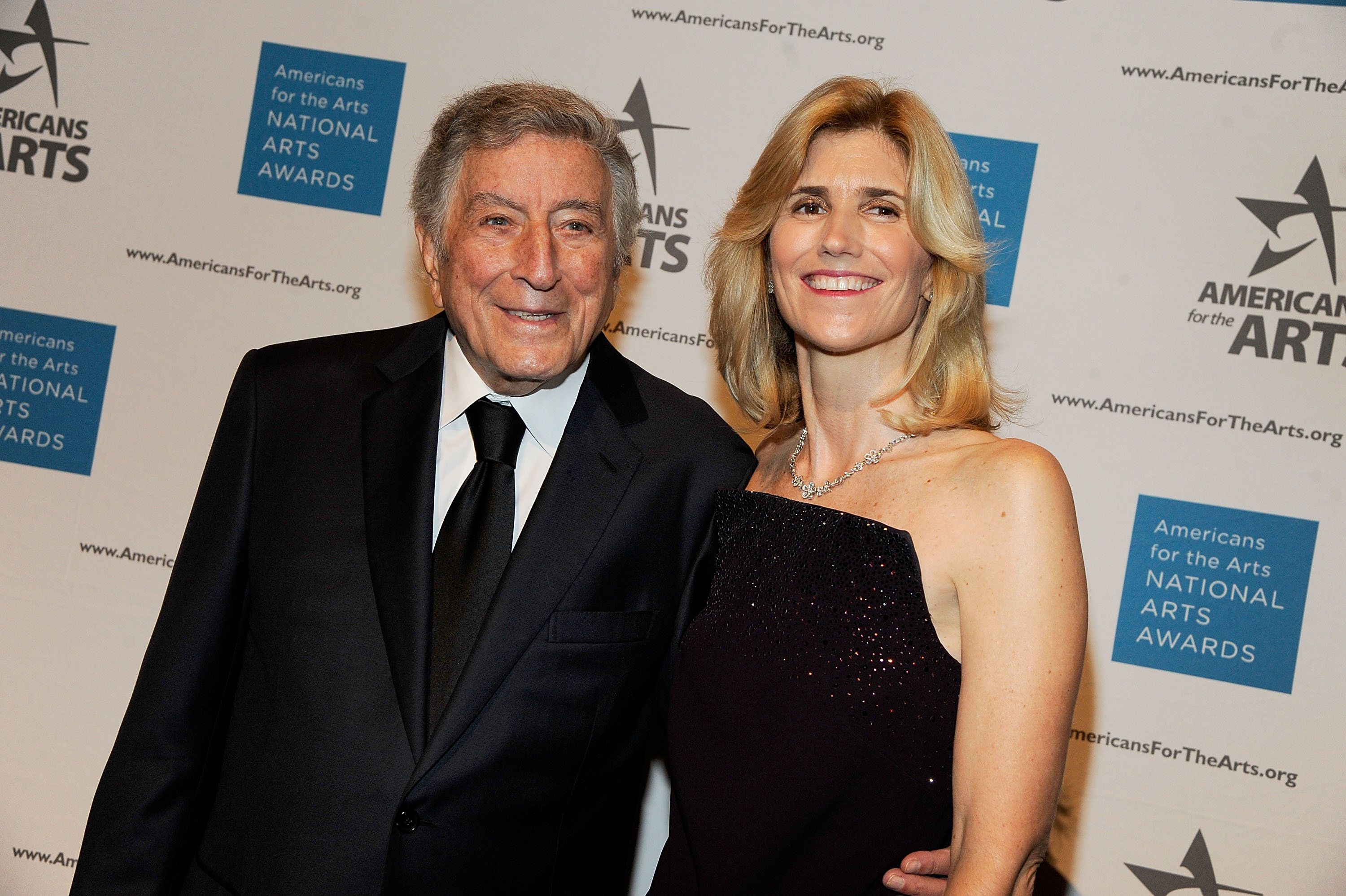 NEW YORK, NY - OCTOBER 17:  Tony Bennett and Susan Benedetto attends the 2016 National Arts Awards at Cipriani 42nd Street on October 17, 2016 in New York City.  (Photo by Rabbani and Solimene Photography/Getty Images)