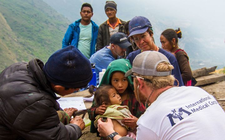 Mobile Medical Unit providing care in Nepal following the 2015 earthquake.