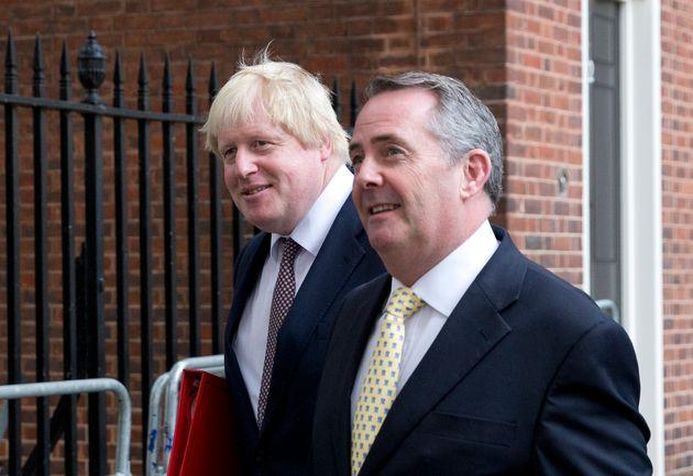 Boris Johnson and International Trade Secretary Liam