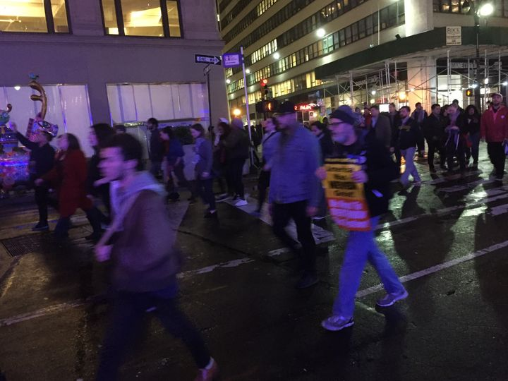Photo from protest I stumbed into last Wednesday night. Far too excited to focus.