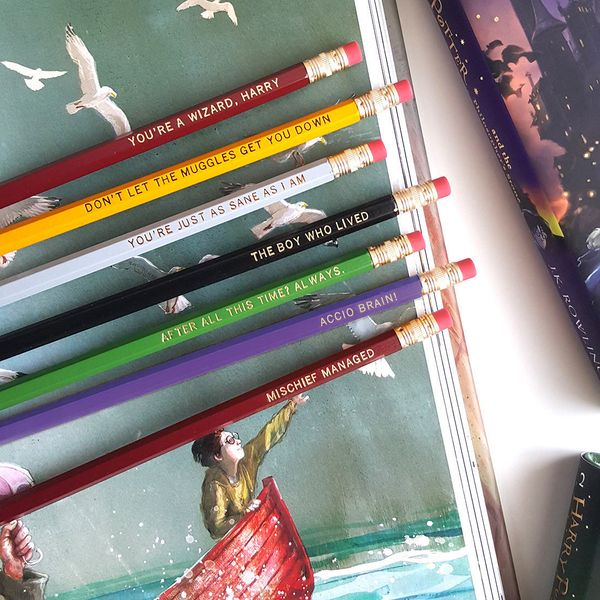 "Set of 7 Harry Potter Pencils, $13.95, <a href=""https://www.etsy.com/listing/256435984/set-of-7-harry-potter-pencils-imprinte"