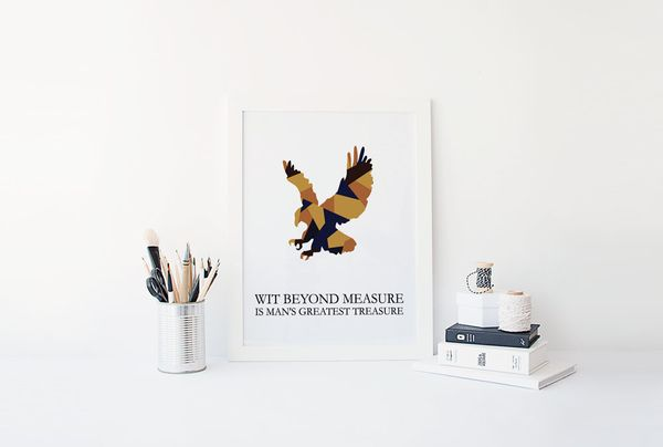 "Ravenclaw Color Block Print, $4, <a href=""https://www.etsy.com/listing/250064410/ravenclaw-colorblock-digital-download?ga_ord"