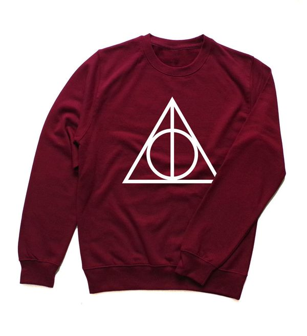 "Deathly Hallows Sweatshirt, $23.99, <a href=""https://www.etsy.com/listing/251831356/deathly-hallows-sweatshirt-deathly?ga_ord"