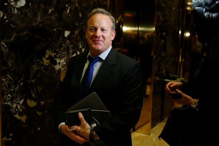 Sean Spicer is reportedly in the running for press secretary.