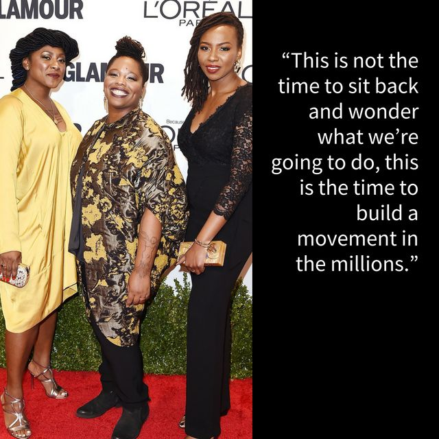 Alicia Garza, Patrice Cullors andOpal Tometiat the 2016 Glamour Women of the Year Awards. The three were honored