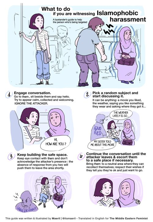 Artist Illustrates What To Do If You Witness Hate Speech Or