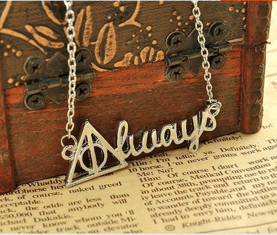 "Always Necklace, $7.50, <a href=""https://www.etsy.com/listing/473869798/harry-potter-death-hollow-always-pendant"" target=""_bl"