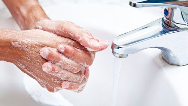 Doctors wash their hands a lot—before and after we see each patient. Scrubbing in for surgery, we typically wash all th