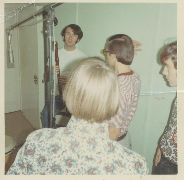 Penny Arkade in the recording studio with Mike Nesmith 1967