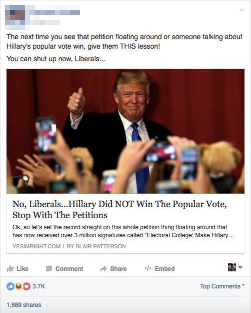 Did Fake News On Facebook Win Trump The Election That S: Here Are Some Of Those Fake News Stories That Mark