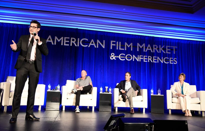 Clay Epstein, President of Film Mode Entertainment, David Lancaster, Producer and CEO of Rumble Films, Douglas Mankoff, Produ