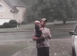 Baby Has The Cutest Reaction To Experiencing Rain For The First Time