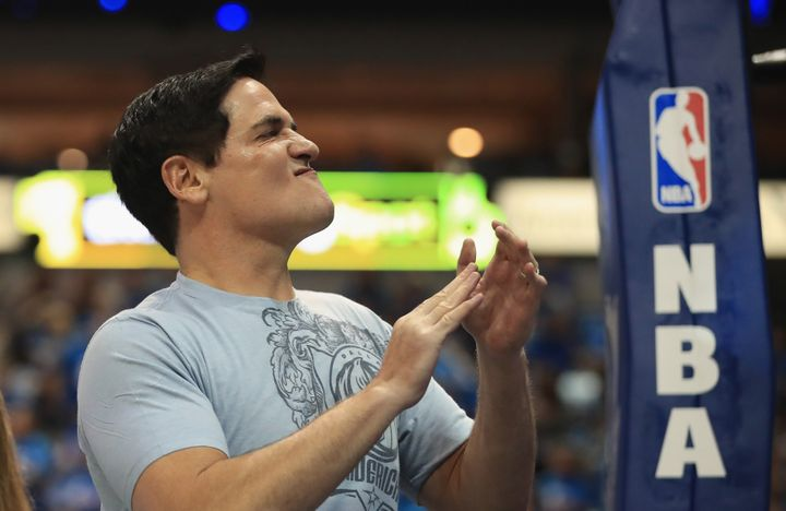Dallas Mavericks owner Mark Cuban (pictured in April), whose team will reportedly no longer stay at President-elect Donald Tr