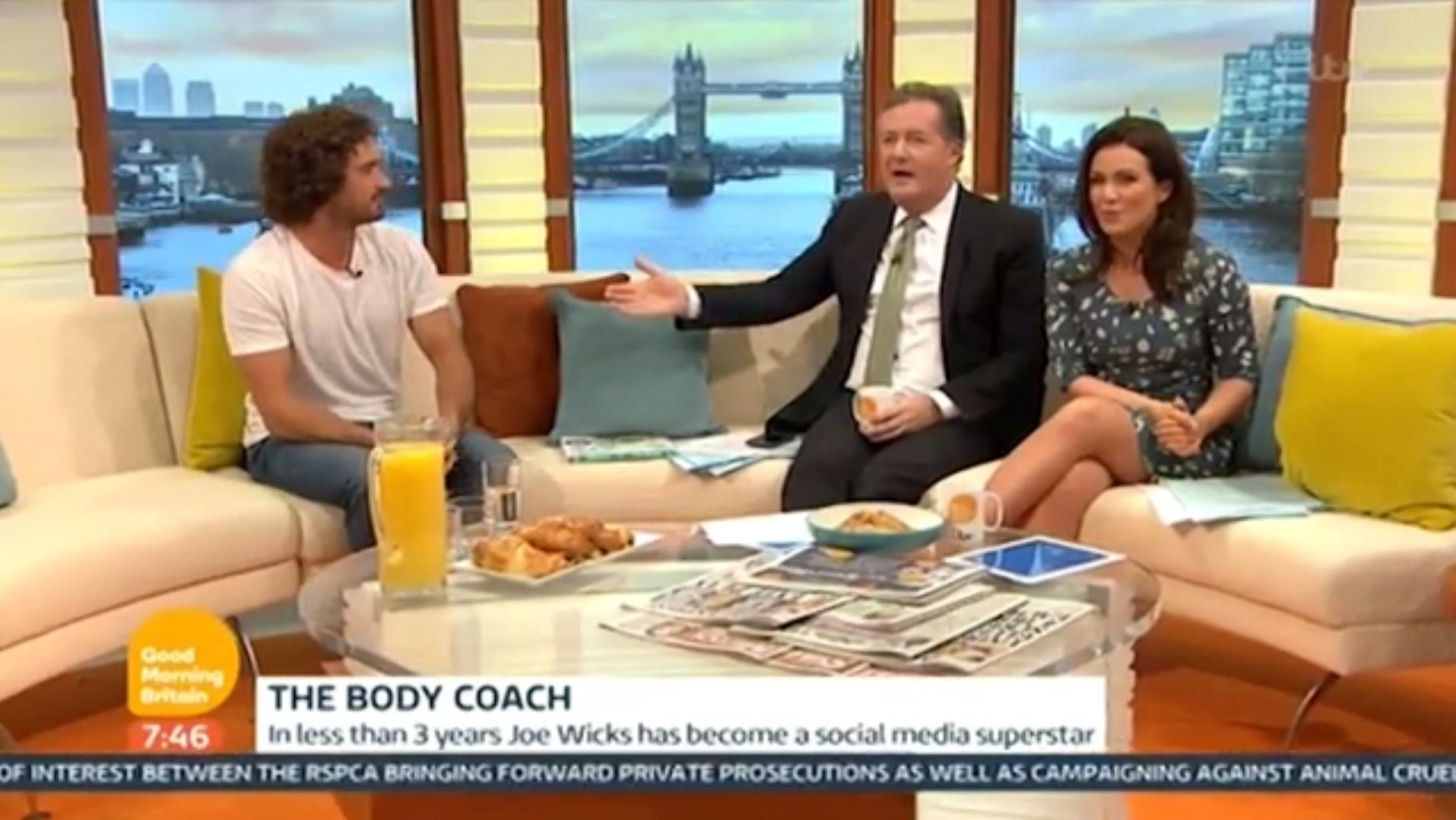Piers Morgan Turns On The Body Coach Joe Wicks In Toe-Curling 'Good Morning Britain'