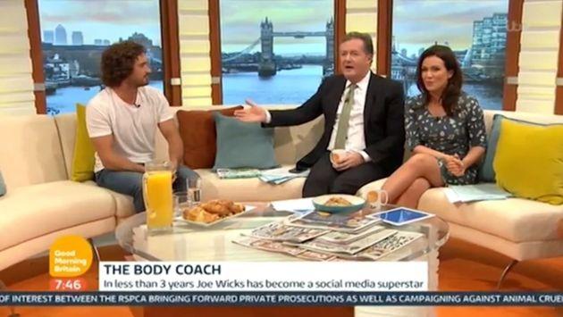 Joe Wicks appeared on Wednesday's 'Good Morning