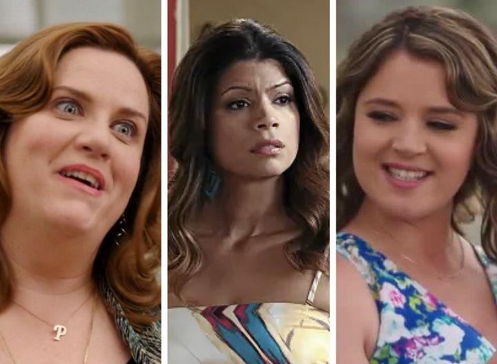 "Paula(Donna Lynne Champlin) on""Crazy Ex-Girlfriend,"" Xiomara (Andrea Navedo) on ""Jane the Virgin"" and Lindsay (Ke"