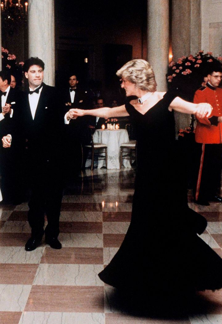 Dancing with John Travolta in 1985.