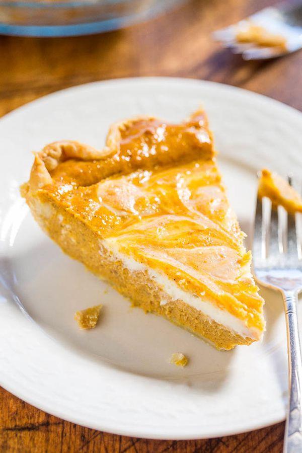 """<strong>Get the <a href=""""http://www.averiecooks.com/2015/10/pumpkin-cream-cheese-pie.html"""" target=""""_blank"""">Pumpkin Cream Chee"""