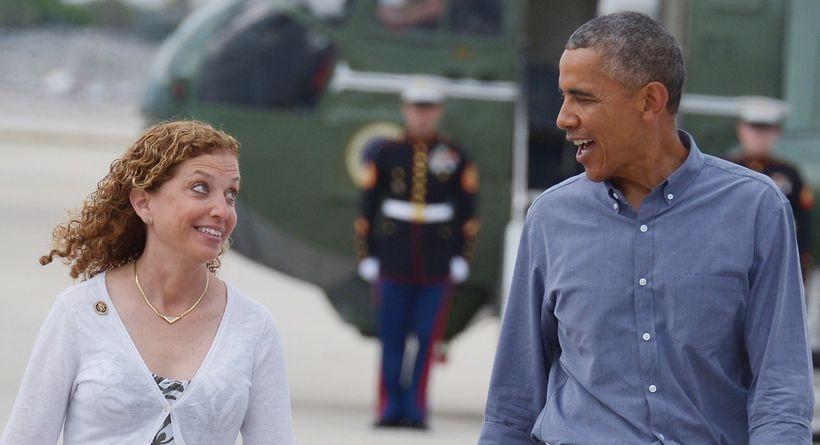 Debbie Wasserman Schultz and Pres. Obama