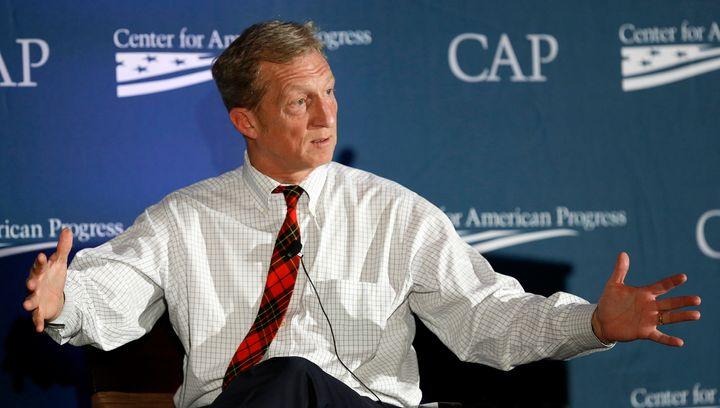Investor, philanthropist and environmentalist Tom Steyer speaks at the Center for American Progress' 2014 Making Progress Pol