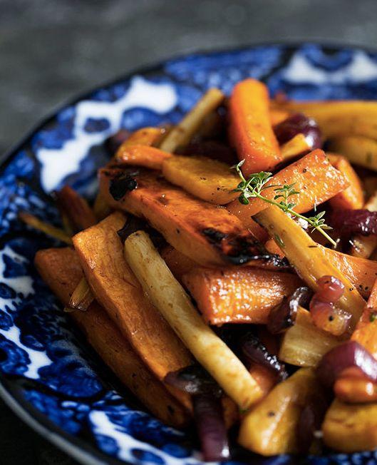"<strong>Get the <a href=""http://www.simplyrecipes.com/recipes/cider_vinaigrette_roasted_root_vegetables/"" target=""_blank"">Cid"