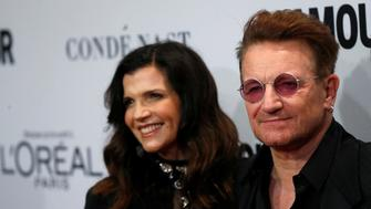 Recording artist and honoree Bono of U2 and his wife Ali Hewson pose at the Glamour Women of the Year Awards in Los Angeles, California U.S., November 14, 2016.  REUTERS/Mario Anzuoni