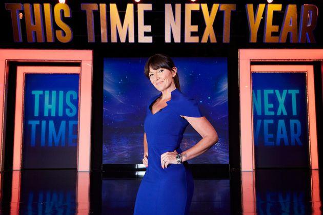 Davina on the set of 'This Time Next