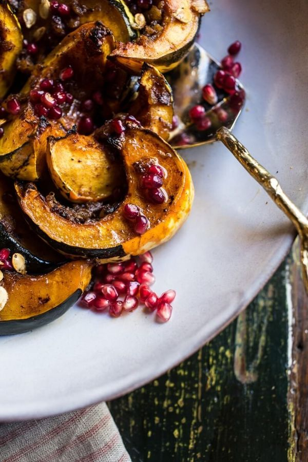 """<strong>Get the <a href=""""http://www.halfbakedharvest.com/brown-sugar-and-pineapple-roasted-acorn-squash-with-spiced-brown-but"""