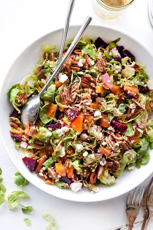 """<strong>Get the <a href=""""http://www.foodiecrush.com/brussels-sprouts-salad-beets-goat-cheese/"""" target=""""_blank"""">Brussels Sprou"""