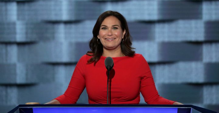 NARAL president Ilyse Hogue spoke at the Democratic National Convention in July.