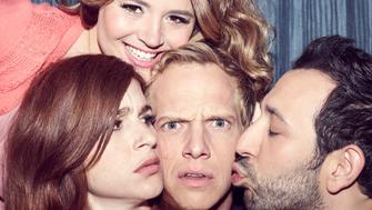 YOU'RE THE WORST -- Pictured: (l-r) Aya Cash as Gretchen, Kether Donohue as Lindsay, Chris Geere as Jimmy, Desmin Borges as Edgar. CR: Autumn de Wilde/FX