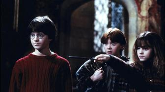 UNITED STATES - NOVEMBER 01:  Film 'Harry Potter and the philosopher's stone' In United States In November, 2001-Harry Potter, Ron, Hermione .  (Photo by 7831/Gamma-Rapho via Getty Images)