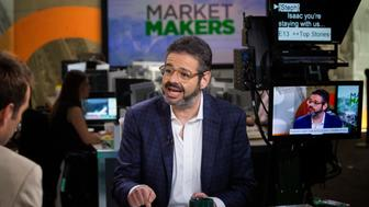 Isaac Lee, president of news and digital at Univision Communications Inc., which includes the company's new Fusion Network, speaks during a Bloomberg Television interview in New York, U.S., on Monday, June 8, 2015. Lee discussed the network's new late night show, and the company's conservation efforts and goal of combining causes with entertainment. Photographer: Michael Nagle/Bloomberg via Getty Images