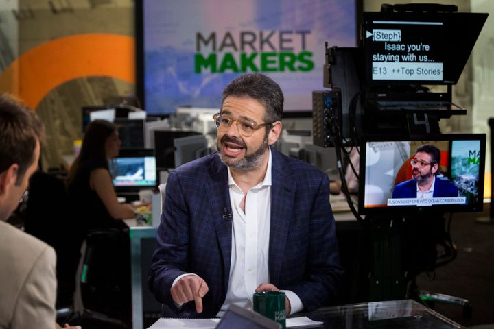 Isaac Lee, Univision's chief news, entertainment and digital officer, speaks during a Bloomberg Television interview in New Y