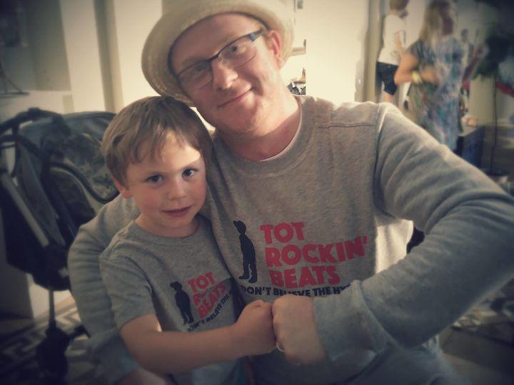 Dan Flanagan and his four-year-old son Nathaniel.