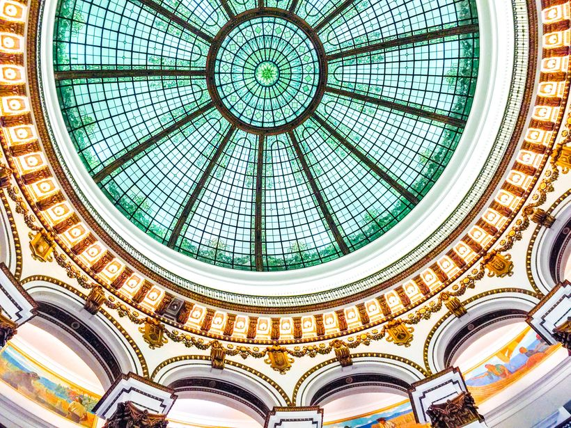 Grand ceiling over the Cleveland Trust Company building in Cleveland, Ohio.