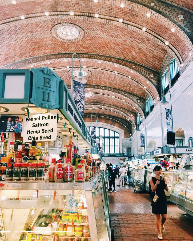 Inside the West Side Market in Cleveland, Ohio